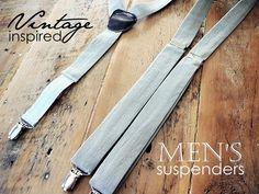 Men's Suspenders in Linen. $38.00, via Etsy.