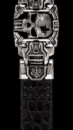 skull /& crossbones vintage style army stug tiger tank biker quality metal badge