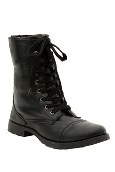 It's Back...Our Black Floral Lined Combat Boot!
