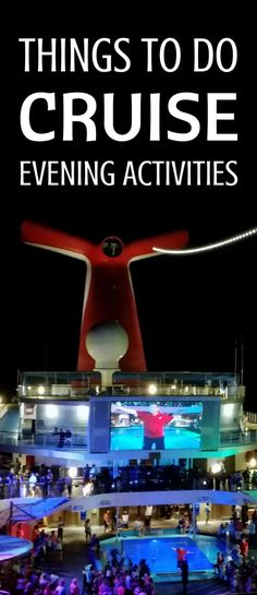 Things to do on a cruise at sea and free fun evening activities at night on a cruise ship for teens, adults, and families! Helpful cruise tips for first-time cruisers to get ideas on what to do on a cruise! Picture: Carnival cruise in the Caribbean! Cruise Packing Tips, Disney Cruise Tips, Best Cruise, Cruise Travel, Cruise Vacation, Vacation Trips, Beach Travel, Vacation Travel, Carnival Cruise Tips