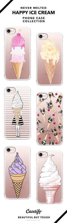 Lick it til it melts!   Never melted Ice Cream Phone Case Collection   iPhone 6/6s/7/7+ AND MORE! Shop them here ☝️☝️☝️ BEAUTIFUL BUT TOUGH ✨ - Ice Cream, Dessert, Summer, Sweet, Food, Love, Cute, Girl