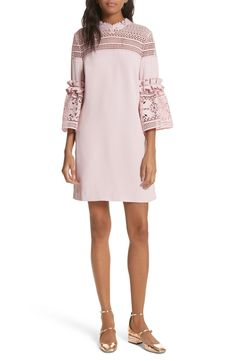 b9955c411446 Ted Baker London Lace Panel Bell Sleeve Tunic Dress