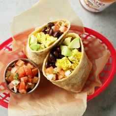 The ultimate protein packed vegan breakfast burrito! 20-minutes to make, hearty and super tasty. Make ahead of time for an easy & healthy breakfast!