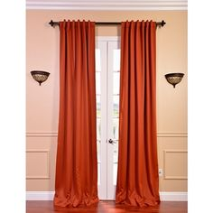 @Overstock.com - Blaze Blackout Curtain Thermal Panel Pair - Darken a room without making it seem foreboding by using this bright curtain panel pair. Despite the cheeriness of the orange color, these panels are designed to block out light. The pole pocket top allows for quick and easy hanging.  http://www.overstock.com/Home-Garden/Blaze-Blackout-Curtain-Thermal-Panel-Pair/8024411/product.html?CID=214117 $62.99
