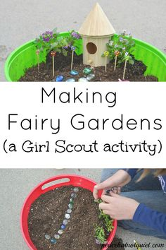 Making fairy gardens is tons of fun, inspires children's creativity, and teaches them a lot as well!