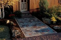 Build a beautiful slate patio in hours—not days Slate Pavers, Paver Stone Patio, Slate Patio, Patio Slabs, Brick Pavers, Concrete Patio, Stone Patios, Patio Kits, Patio Ideas