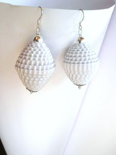 Hand Rolled Corrugated Cardboard Earrings