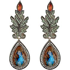 Sevan Biçakçi Peacock-Intaglio Drop Earrings