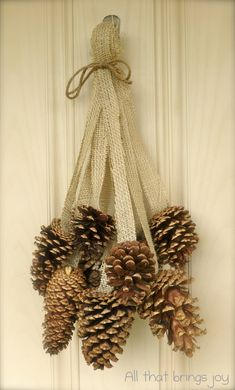 Pretty and natural, or go glam with Sparkled Pinecones and Satin Ribbon!