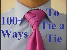 How to Tie a Tie Velvet Knot for your Necktie - YouTube