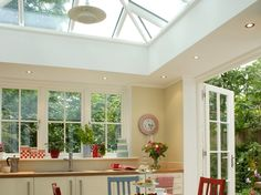 kitchen extension into a conservatory Kitchen Inspirations, House, Victorian Terrace House, New Homes, Cottage Interiors, Conservatory Design, Bungalow Style, Open Plan Living, Kitchen Extension