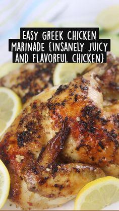 Best Chicken Recipes, Veggie Recipes, Real Food Recipes, Cooking Recipes, Easy Homemade Recipes, Easy Healthy Recipes, Healthy Choices, Lemon Recipes, Greek Recipes