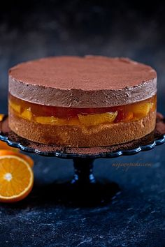 Marbled with Nutella® Glazed Chocolate - HQ Recipes Giant Jaffa Cake, Cake Recept, Indian Cake, Frozen Chocolate, Different Cakes, Mousse Cake, Polish Recipes, Food Cakes, Brunch