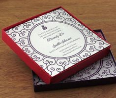 Utilizing the beautiful symbol of the mandala as a motif, this custom Indian wedding card design speaks volumes about your approaching big d...