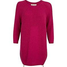 Pink geometric pattern jumper dress - knitted dresses - knitwear - women