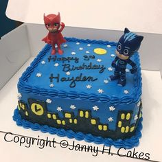 Pj masks cake www.facebook.com/Jannyh.cakes Pj Masks Birthday Cake, Make Birthday Cake, Birthday Themes For Boys, Boy Birthday Parties, 5th Birthday, Torta Pj Mask, Pjmask Party, Party Ideas, Festa Pj Masks