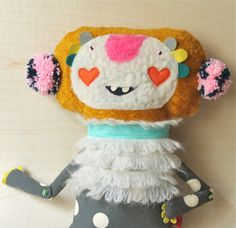 I love this type of creative Ooak doll, luv the button joints -- maker in Germany on Etsy