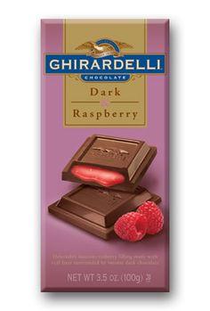 Ghirardelli Dark Chocolate and Raspberry Oh My Gosh I love this stuff!