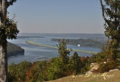 Tennessee River, Section, Alabama...we lived on the peninsula to the right in Scottsboro, Alabama.