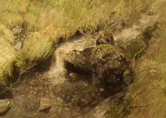 Mountain brook by Roald Grimsø Mountain Brook, Food, Meals