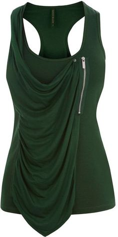 Karen Millen England Draped Jersey Zip Vest
