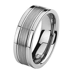 Valentines Day *** LASER ENGRAVING SERVICE *** 8mm Brushed Center with Grooves Cobalt Free Tungsten Carbide COMFORT-FIT Wedding Band Ring (Size 7 to 14) [DETAIL INFORMATION - PLEASE CLICK AND CHECK THE ITEM DESCRIPTION] The World Jewelry Center. $52.00. scratch proof. THIS RING IS AN ENGRAVED ITEM AND CANNOT BE RETURNED OR EXCHANGED. Promptly Packaged with Free Gift Box and Gift Bag. Tungsten has a tendency to break when hit with a hard material