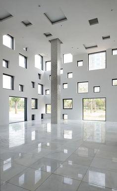 Cube Tube by Sako Architects   (copia del Zollverein school of management and design de SANAA)