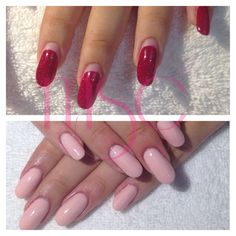 Before & after #nails #uñas #acrylic #acrylicnails #before #after #semilac
