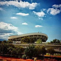 """See 1299 photos from 7629 visitors about olympiacos, olympiakos, and volleyball courts. """"The stadium is the home court for the basketball team. Sports Stadium, Four Square, Greece, Around The Worlds, Mansions, House Styles, Places, Architecture, Greece Country"""