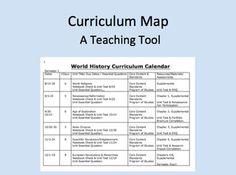 teacher curriculum template