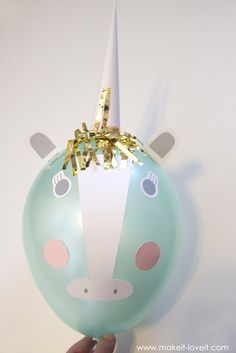 DIY Unicorn Party Balloons   via www.makeit-loveit.com