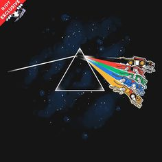 """Voltron T-Shirt by Nathan Davis aka Obvian. """"The Dark Side of Planet Arus"""" is a parody of Pink Floyd's Dark Side of the Moon for fans of Voltron. Voltron T Shirt, Pink Floyd Dark Side, Word Nerd, Paladin, Geek Chic, The Darkest, Cool Designs, Geek Stuff, Shirts"""