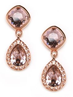 rose gold earrings - Thad's wedding
