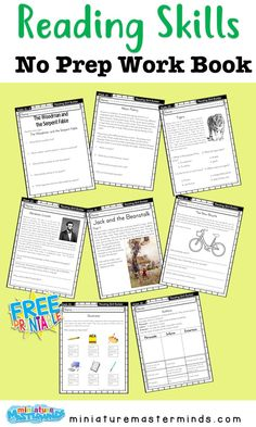 Free Printable Spring No Prep Kindergarten Page Worksheet Book ⋆ Miniature Masterminds - Computer teacher - Free Printable Spring No Prep Kindergarten Page Worksheet Book ⋆ Miniature Masterminds - First Grade Schedule, First Grade Curriculum, Reading Practice, Reading Skills, Reading Activities, Computer Teacher, Reading Comprehension Worksheets, School Plan