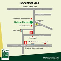 Trouble finding your way to our location? We have made it easy for you! http://www.eastwestrealty.in/balram-enclave-location-map.php #BalramEnclave #LuxuryApartment Contact us at 91 9444446643; for any queries, mail us at info@eastwestrealty.in