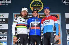 The final Tirreno-Adriatico podium: Sagan, Van Avermaet and Jungels