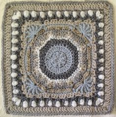 "Ravelry: Fountain of Roses 12"" Square pattern by Shan Sevcik"