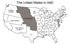 United States Map as of 1850.