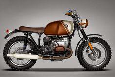 Scrambler BMW 'Pure' by Ton-Up Garage - Custom Motorcycles & Classic Motorcycles - BikeGlam Motos Vintage, Bmw Vintage, Vintage Cafe Racer, Vintage Bikes, Bike Bmw, Cool Motorcycles, Vintage Motorcycles, Bmw Boxer, Bmw Cafe Racer