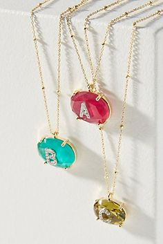 Jeweled Monogram Pendant Necklace  Monogram  GiftsforHer  Personalized. The  Perfect Palette · BRIDESMAID GIFTS 88f7266c2