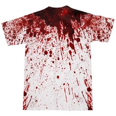 Blood Splatter T-Shirt - Shelfies | All-Over-Print Everywhere - Designed to Make…