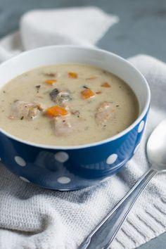 Chic, chic, chocolat...: Soupe au poulet et champignons