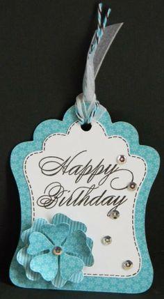 Birthday tag by Helen.