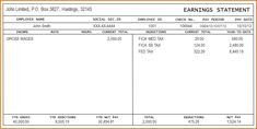 Pay Statement Template Check Stub Template 03  Pay Stub's  Pinterest  Template