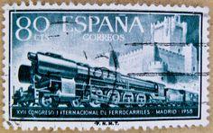 Espana selo spain 80 cts train railway postage selo … | Flickr