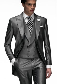 Custom Best Man Brown Modern Fashion Dress Suit Tuxedo Wedding ...