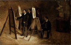 Scuola di pittura all'Accademia