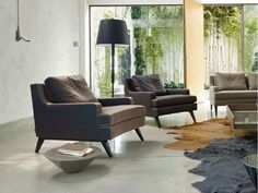 Living room armchair  Armchair with armrests BELEM BELEM Collection by ROSET ITALIA | design Didier Gomez