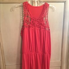 Coral dress Coral dress size large. From Target. No tag on the top part. Target Dresses