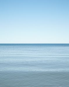 Minimalist seascape photograph of the calm blue water of Lake Huron under a beautiful blue sky. - Open Edition - Location: Lake Huron at Bayfield, Ontario, Canada Fine Art Photography, Landscape Photography, Travel Photography, Modern Coastal, Coastal Decor, Nautical Prints, Ontario Travel, Lake Huron, Minimalist Art